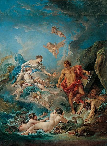 朱諾要求風神解放風力Juno Asking Aeolus to Release the Winds_布雪François Boucher .JPG