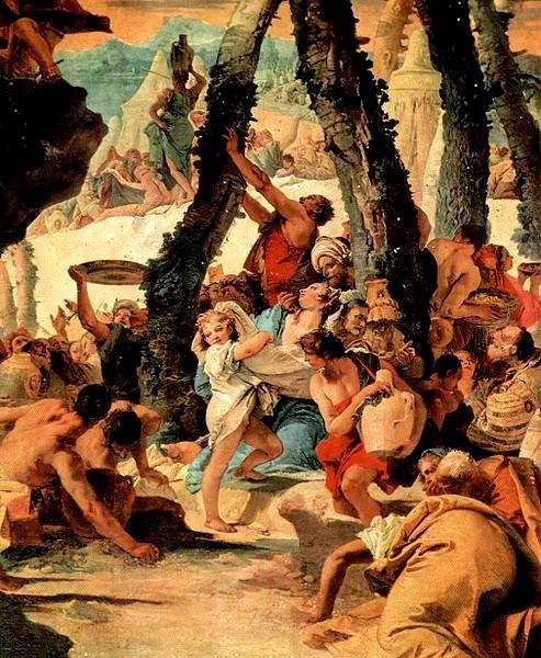 拾取嗎哪 La raccolta della manna_提也波洛 Giovanni Battista Tiepolo.jpg