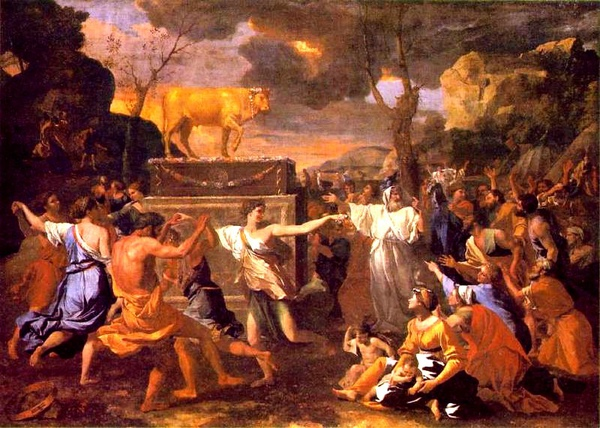 金牛犢膜拜The adoration of the golden calf_尼古拉.普桑 Nicolas Poussin.jpg