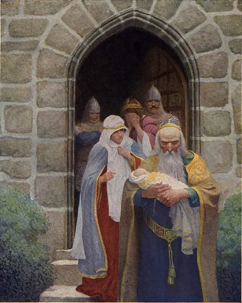 嬰兒亞瑟Boys King Arthur _魏斯N.C. Wyeth.jpg