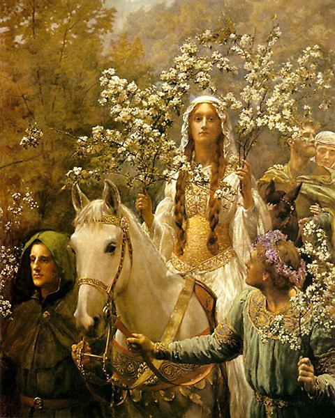 葛妮薇兒王后的節慶Queen Guinevre's Maying _約翰‧柯里爾John Collier.jpg
