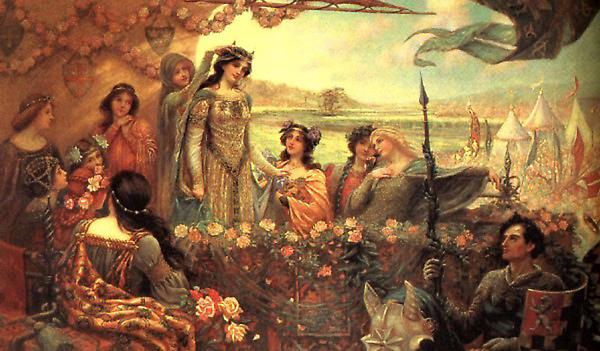 蘭斯洛特和葛妮薇兒Lancelot and Guinevere_赫伯特・詹姆斯・德雷珀 Herbert James Draper.jpg