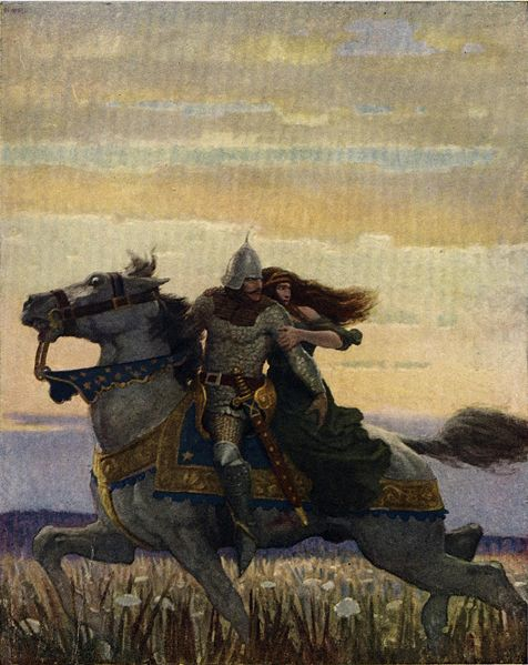 蘭斯洛特和關妮薇Launcelot and Guenevere_魏斯 N. C. Wyeth.jpg