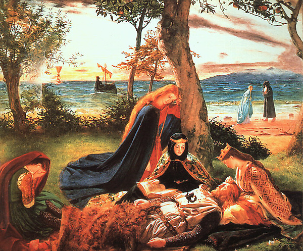 亞瑟王之死The Death of King Arthur_ 詹姆斯阿徹James Archer.jpg