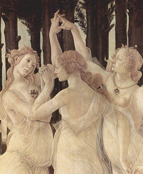春(春天),局部:三女神Frühling (Primavera)_波提且利 Sandro Botticelli.jpg