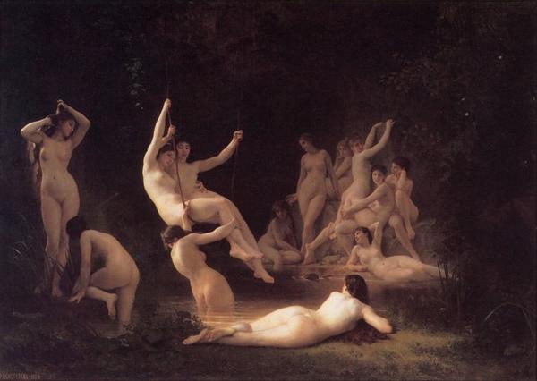 寧芙The Nymphaeum _William-Adolphe_鮑格雷奧 Adolphe William Bouguereau.jpg