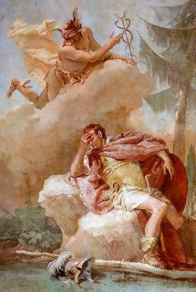 赫耳墨斯提醒埃涅阿斯能夠履行自己的命運Mercury calls upon Aeneas to fullfil his destiny _提埃波羅Giovanni Battista Tiepolo.jpg