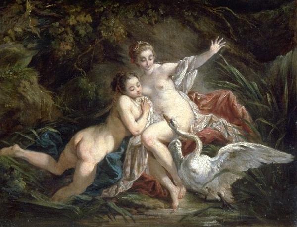 麗達與天鵝Léda et le cygne_希波利特Hippolyte-Joseph Cuvelier.jpg