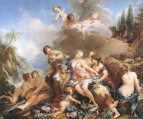 歐羅芭被搶The Rape of Europa _布雪 Francois Boucher.jpg