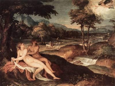 朱比特與伊歐 Landscape with Jupiter and Io_蘇斯翠斯Lambert Sustris.jpg