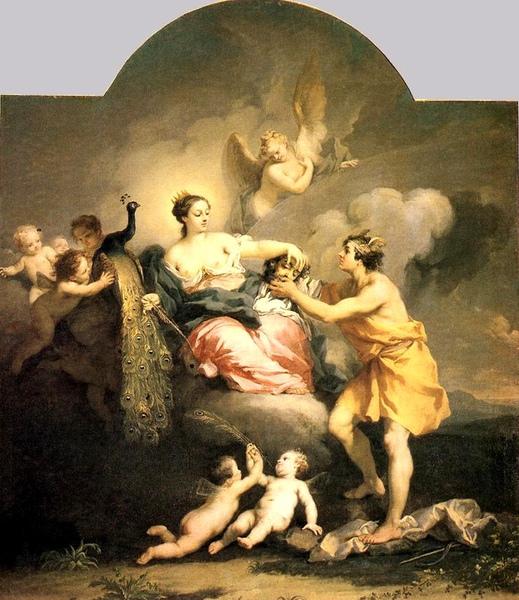 朱諾接受阿哥斯的頭 Juno Receiving the Head of Argos_雅可布·阿米戈尼Jacopo Amigoni.jpg