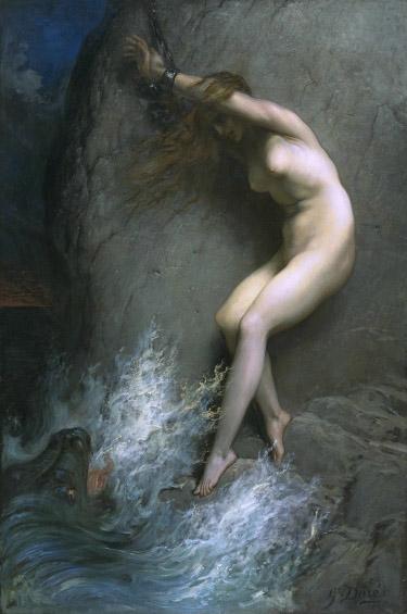 拴在岩石上的安朵美達Andromeda chained to a rock _古斯塔夫·多雷 Gustave Dore.jpg