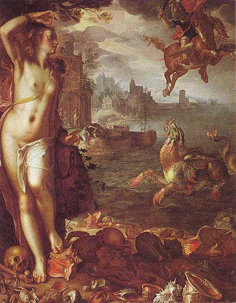 珀耳修斯和安朵美達Perseus and Andromeda_維特華爾Joachim Anthonisz Wtewael.jpg
