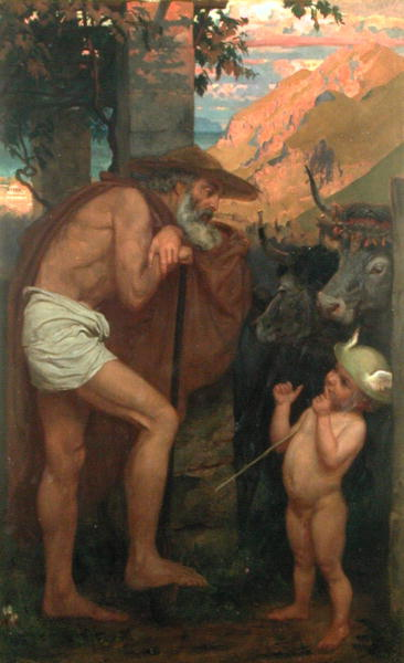 墨丘利偷取神的牛Mercury Stealing the Cattle of the Gods_波因特Sir Edward John Poynter.jpg