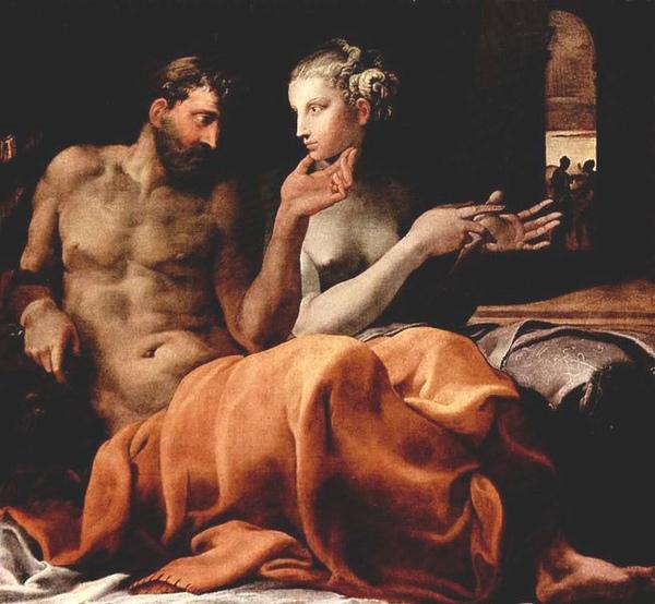 奥德修斯與潘尼羅佩Odysseus and Penelope _ 普利馬蒂喬 Primaticcio, Francesco.jpg