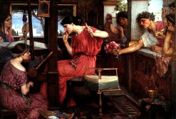 潘尼羅佩與求婚者Penelope and the Suitors_瓦特豪斯‧約翰‧威廉John William Waterhouse.jpg