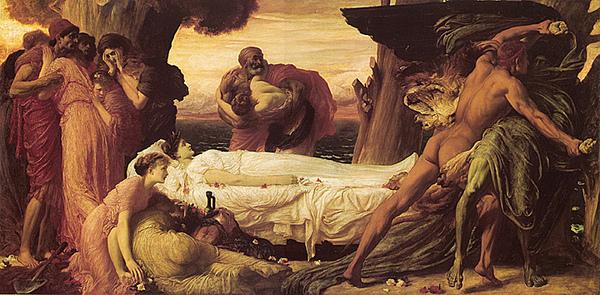 海格力斯為阿柯絲提斯與死神搏鬥Hercules Wrestling with Death for the Body of Alcestis_雷頓Lord Frederick Leighton .jpg