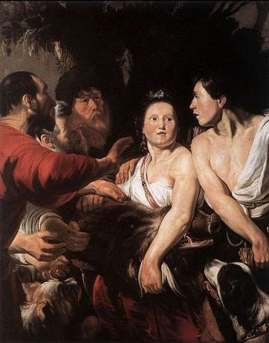梅列阿格與阿塔蘭塔Meleager and Atalanta_喬登斯Jacob Jordaens.jpg