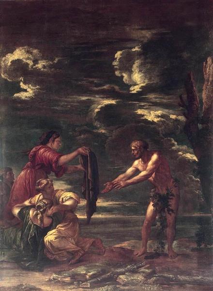 奧德修斯與瑙西卡Odysseus and Nausicaä _ 羅薩salvator rosa.jpg