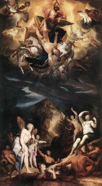 法厄同的墜落 The Fall of Phaeton  _老約瑟夫‧海因茨  Joseph The Elder Heintz.jpg
