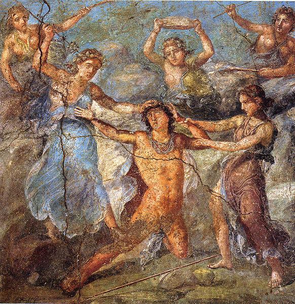 彭透斯 Pentheus_龐貝壁畫in Pompeii.jpg