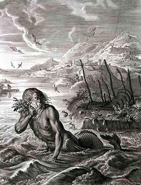 葛勞科斯變海神Glaucus Turned into a Sea-God _貝爾納‧皮卡爾Bernard Picart .jpg