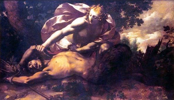 阿波羅剝瑪敘阿斯的皮Apollon écorchant Marsyas_喬范尼.斯蒂法諾.丹諾蒂Giovanni Stefano Danedi  .jpg