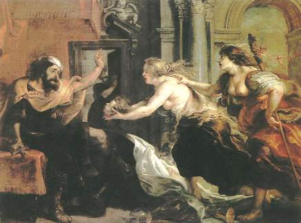他面對兒子的頭,Tereus Confronted with the Head of His Son_Peter Paul Rubens.jpg