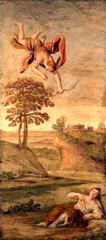 阿波羅殺害克蘿妮絲 Apollo slaying Coronis_杜明尼基諾 Domenico Zampieri.jpg