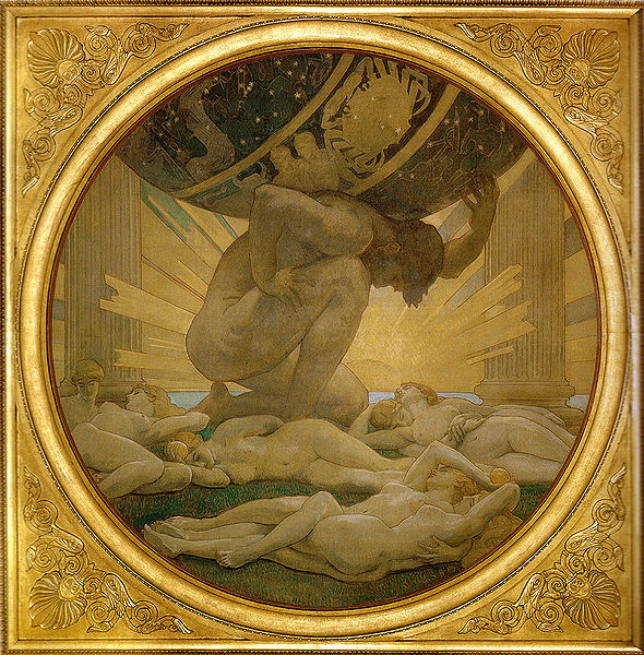 阿特拉斯和海絲佩莉蒂姊妹Atlas and the Hesperides_約翰‧辛格‧沙金特 John Singer SargentSargent, John Singer .jpg