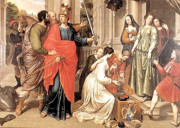阿基里斯與在呂科默得斯女兒們Achilles with the Daughters of Lycomedes_彼得凡林特 Peter van Lint.jpg