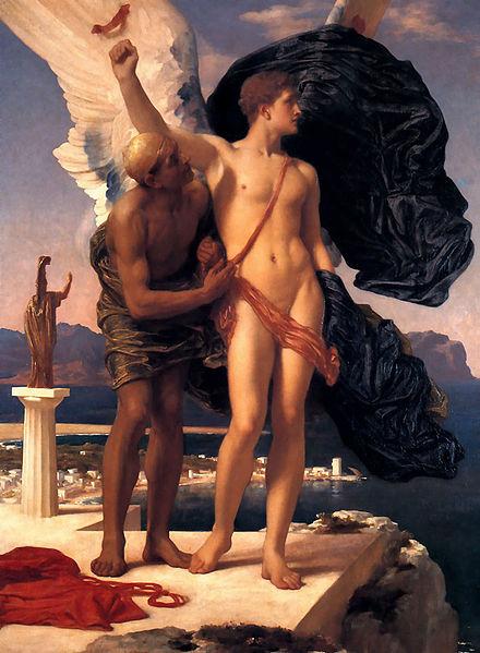 伊卡洛斯與代達羅斯Icarus and Daedalus_弗雷德裏克‧列頓 Frederic Leighton.jpg