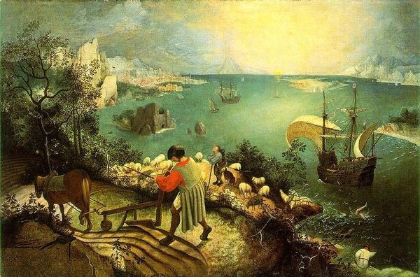 伊卡洛斯的墜落Fall of Icarus_勃魯蓋爾Pieter Bruegel de Oude.jpg