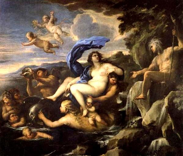 卡拉蒂與埃西斯泉 he Triumph of Galatea,with Acis Transformed into a Spring_盧卡 · ·喬達諾 Luca Giordano .jpg