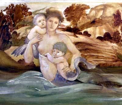 美人魚與她的子女mermaid with her offspring_伯恩瓊斯Edward Burne-Jones .jpg