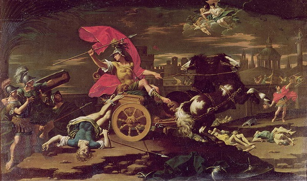 阿基里斯拖著赫克托爾屍體 Achilles Dragging the Body of Hector around the Walls of Troy  多納托‧克雷帝 Donato Creti .JPG