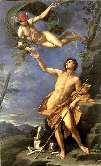 赫耳墨斯和帕里斯Mercurio e Paride _多納托‧克雷帝Donato Creti .jpg