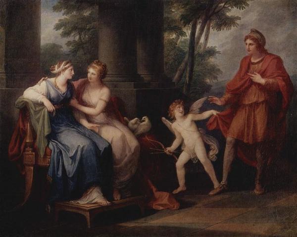 維納斯勸說海倫與帕里斯Venus überedet Helena Paris zu erhören_ Angelica Kauffmann 考夫曼,安格.jpg