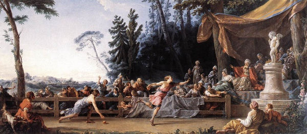 希波梅內斯與阿塔蘭塔賽跑 The Race between Hippomenes and Atalanta _諾埃爾‧阿萊 Noel Halle.jpg