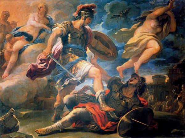 埃涅阿斯與圖爾努斯Aeneas and Turnus_喬丹奴Luca Giordano  .jpg