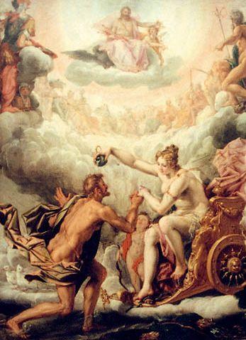 維納斯迎接埃涅阿斯到奧林匹斯山Aphrodite receives Aeneas in Olympus_懷特Peter de Witte .jpg