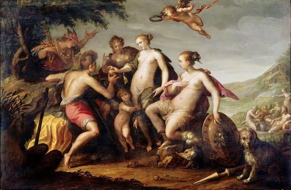 帕里斯的裁判 Le jugement de Paris_漢斯‧馮亞深Hans von Aachen .jpg