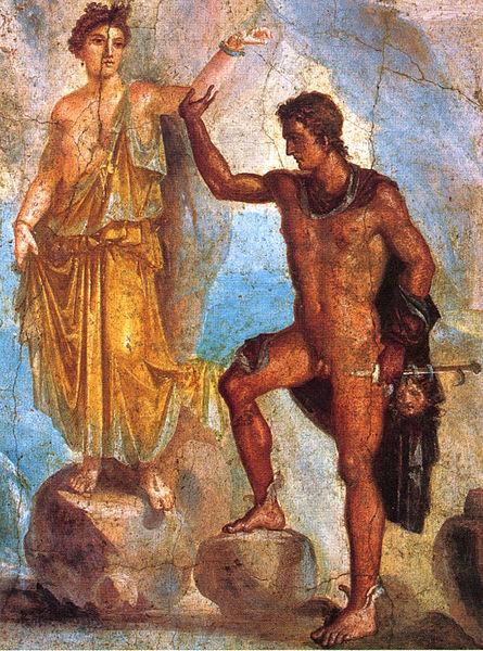 珀耳修斯和安朵美達 Perseus and Andromeda_龐貝壁畫Paintings from the  Pompeii.jpg