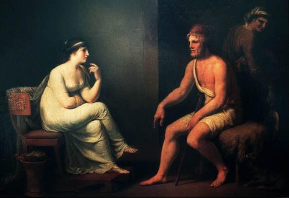 潘尼羅佩與奥德修斯 Penelope and Odysseus__梯斯巴因Johann Heinrich Wilhelm Tischbein.jpg