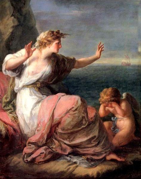 阿麗雅德妮被忒修斯遺棄 Ariadne von Theseus Verlassen _ 考夫曼Angelica Kauffmann.jpg