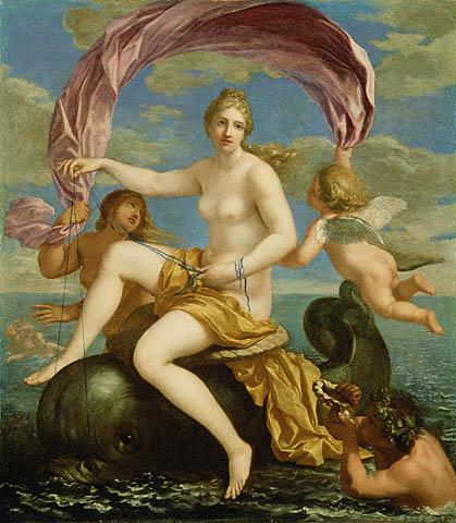 水神卡拉蒂 The Triumph of Galatea_雅克 ・史特拉Jacques Stella.jpg