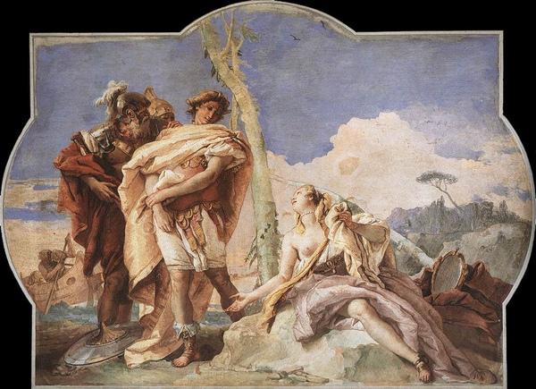 勸說奧德修斯參戰  Rinaldo verläßt Armida_ 提也波洛Giovanni Battista Tiepolo.jpg