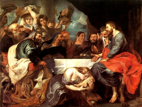 西蒙的盛宴 Feast in the House of Simon the Pharisee_魯本斯 Peter Paul Rubens.jpg