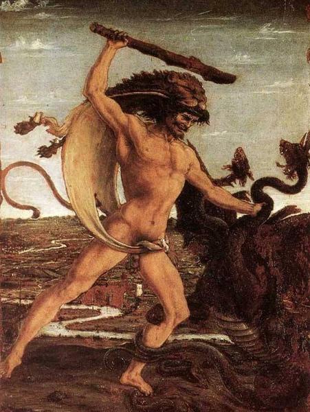 海格力斯與九頭蛇Hercules and the Hydra_波拉尤奧羅 Antonio Pollaiuolo.jpg