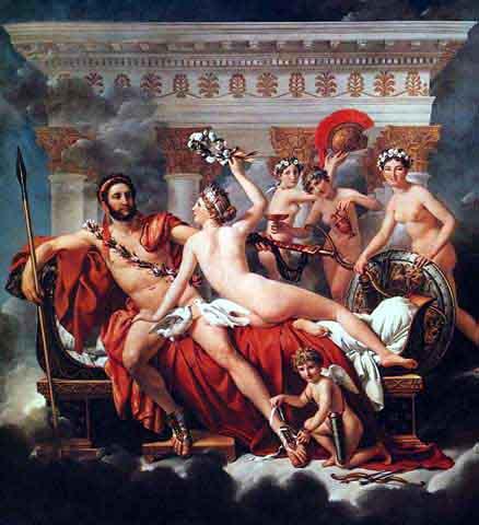卸除武裝的戰神,維納斯和三美神Mars disarmed by Venus and three Graces _大衛‧雅克‧路易Jacques-Louis David.jpg